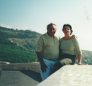 In the hills of Sicily on the way to Poppa's village.