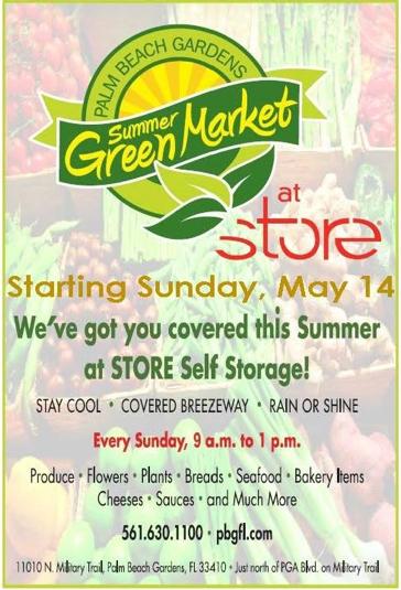 Palm Beach Gardens Summer Greenmarket Flyer